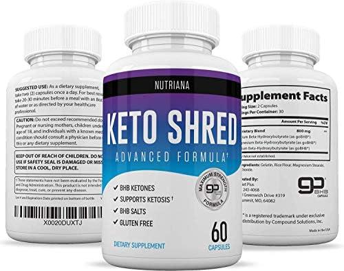 Keto Ultra Shred Diet Pills - Keto Advanced Weight Loss Fat Burners for Women and Men | Keto BHB Salts to Burn Fat Fast on Keto Diet | Ketogenic Keto Slim Supplement |Exogenous Ketones - 60 Count 7