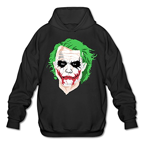 PHOEB Mens Sportswear Drawstring Hoodie Sweatshirt,the Joker Black XX-Large