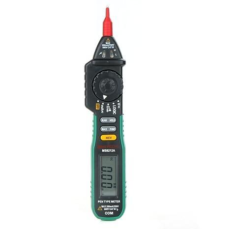 MASTECH ms8212 a tipo lápiz digital multímetro sin contacto voltaje probador de voltaje AC DC Multimetro