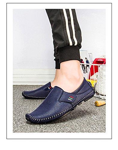 uomo amp; Driving Scarpe Walking Mocassini casual Estate Moda Flats per Boats Blue Uomini uomo 189 Loop traspiranti Hook Scarpe q174Zvw