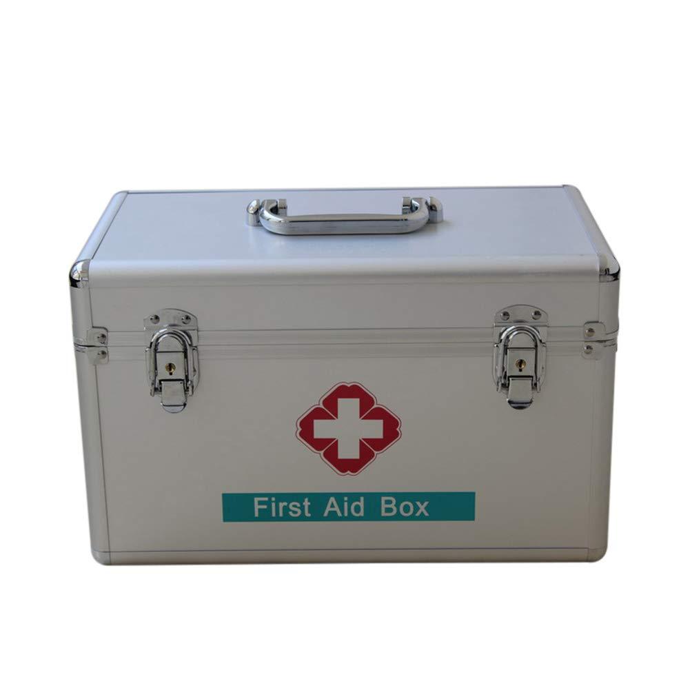 Erste-Hilfe-Ausrüstung, Erste-Hilfe-Ausrüstung aus Aluminium, Erste-Hilfe-Ausrüstung für Auto, Reisen, Zuhause und Arbeitsplatz, Weisheitspaket, Tragbare Notfall-Überlebensausrüstung