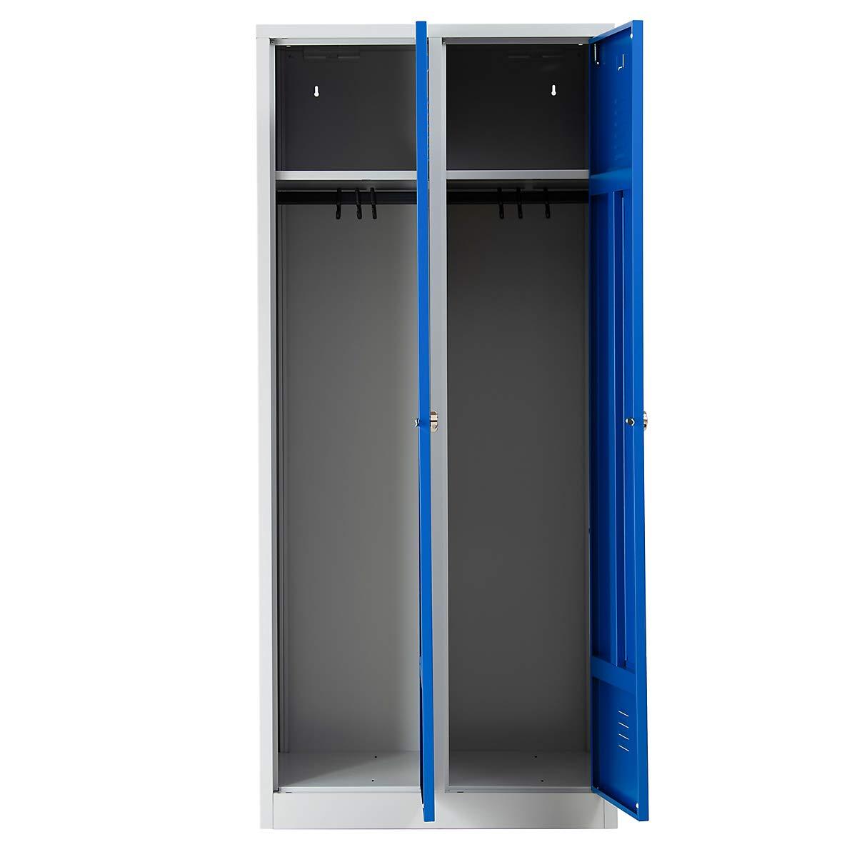 Grau-Blau Vorh/ängeschloss Garderobenspind Umkleidespind Spind Schrank Abschlie/ßbar Certeo Garderobenspind Anschlag rechts