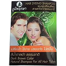 Natural Shampoo, Black Hair Color (Grey Coverage) for Men & Women, Easy to Use, Safety, No Nasty