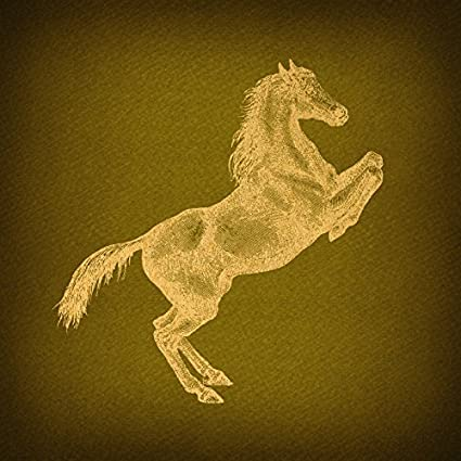Amazon.com: Vintage Prancing Horse Wall Art Print Western Animal ...