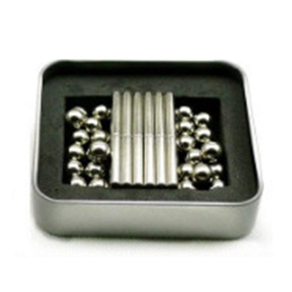 TAOHOU Juguetes magn/éticos creativos Magic Sticks Stress Fidget Toy Building Blocks Silver