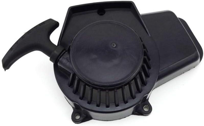Stoneder Plastique Noir Pull Starter Recoil pour moteur 2/temps 47/cc 49/cc MINIMOTO Pocket Dirt bike Mini moto ATV Quad 4/Wheeler