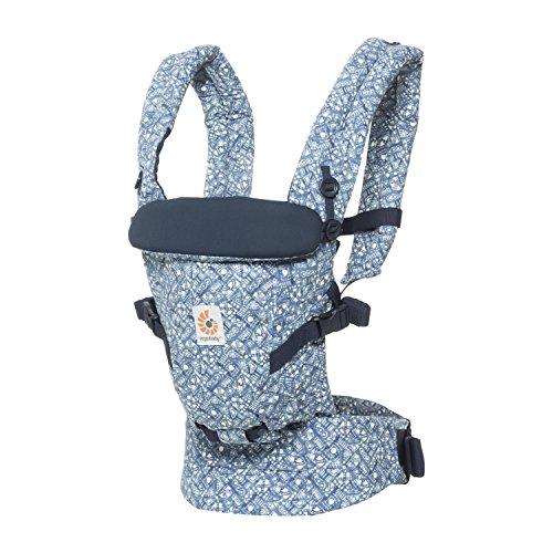 Ergobaby Adapt Award Winning Ergonomic Multi-Position Baby Carrier, Newborn to Toddler (Batik Indigo)
