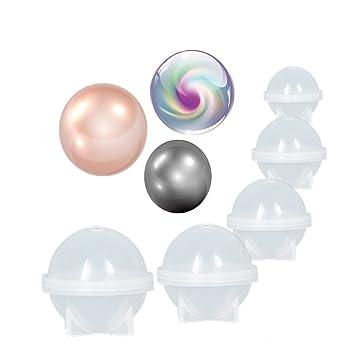 Dorhui 5 piezas Esfera redonda de silicona molde DIY resina epoxi moldes de hacer herramienta de regalo artesanal ...