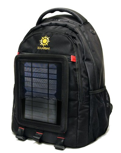 SOLARBAK v3 solar powered backpack, charge mobile devices, Take Your Power with You, w/2 liter hydration bladder, 5000 mAh Lithium Ion Battery, 27 liter Ballistic Nylon Bag, Black – Stay Charged my Friends, Outdoor Stuffs