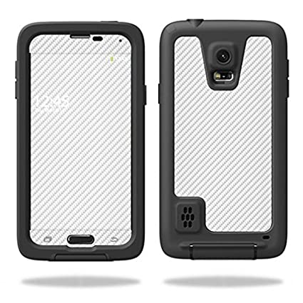 new concept d0c2c fdcd5 MightySkins Skin For LifeProof Samsung Galaxy S5 fre Case – White Carbon  Fiber | Protective, Durable, and Unique Vinyl Decal wrap cover | Easy To ...