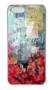Custom Protector Case for iPhone 5C with Abstract Art Painting Hard Plastic Skin Case for iPhone 5C