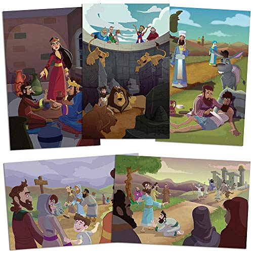 Vacation Bible School (VBS) 2019 To Mars and Beyond Bible Story Poster Pak: Explore Where God's Power Can Take You! -