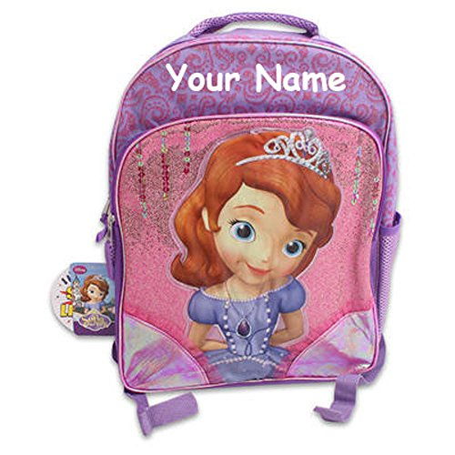 Personalized Disney Sofia the First LIGHT UP School Backpack Book Bag - 16 Inches
