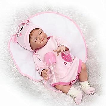 20/'/' Full Body Vinyl Silicone Reborn Girl Baby Dolls Newborn Touch Real Bath Toy