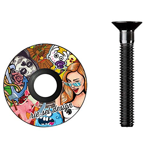 Rie:Sel Design Headset Stem Cap; Stickerbomb - RH-D013