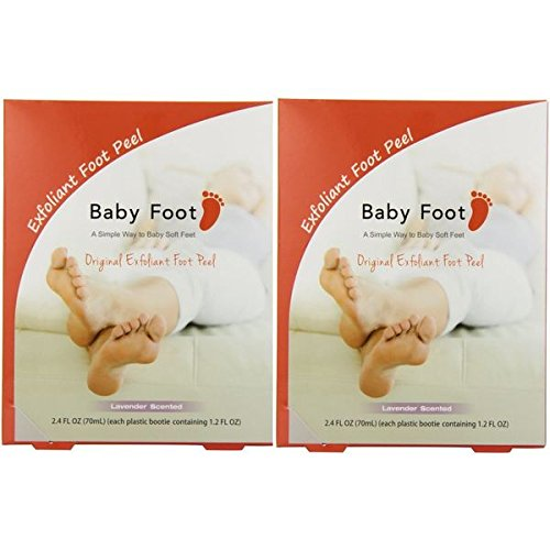 Exfoliant Foot Peel Baby Foot Peel, Lavender Scented, 2.4 fl oz. (2 Pack)