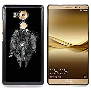 cool abstract black monochrome plan Caja protectora de pl??stico duro Dise?¡Àado King Case For Huawei Mate 8