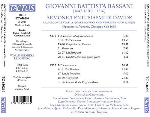 Giovanni Battista Bassani: Armonici entusiasmi di Davide