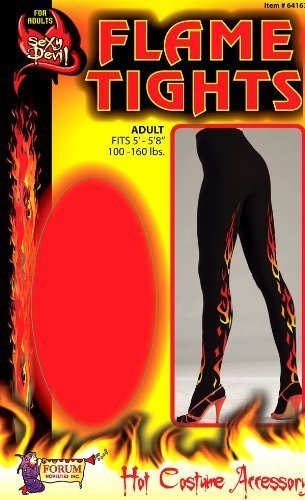 Forum Novelties Sexy Devil Flame Tights (Sexy Devil Halloween Costumes)