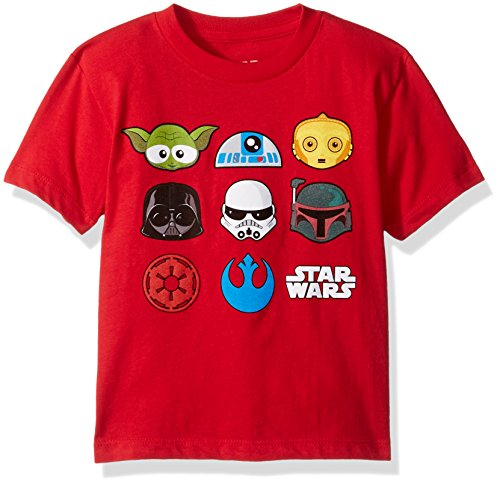 Star Wars Boys' Toddler Boys' T-Shirt, Red, 3T (Star Wars Boys)