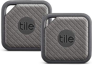 Tile Sport - Key Finder. Phone Finder. Anything Finder (Graphite) - 2 Pack
