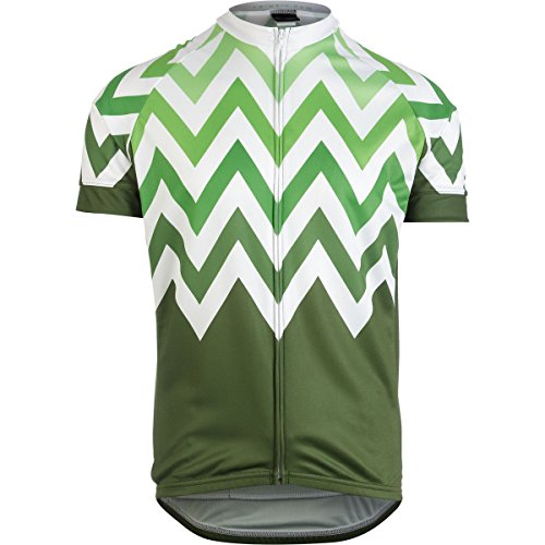 Twin Six Climber Jersey - Men's Olive Green/White, L (Twin Six Cycling Jersey compare prices)