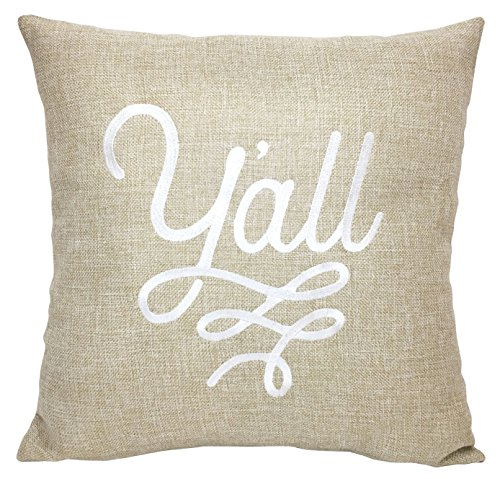 urlap Look Cotton Texas Throw Pillow Cover 18 x 18 Inches - Texas Pillow Cover Only ()