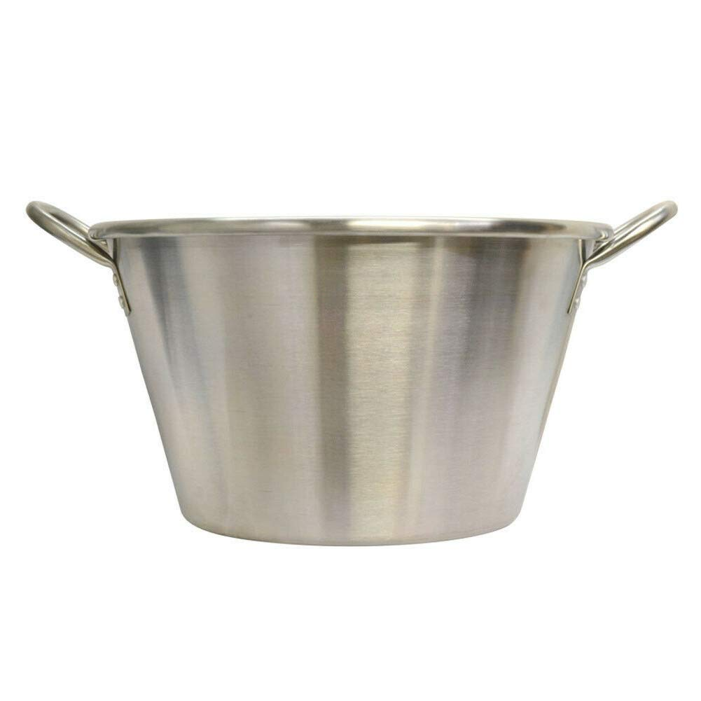 LungMongKol Shop Carnitas Cazo Stainless Steel Caso Pot Pan Wok Gas Stove 19 Inches Long Lasting Use Designed with 2 Handles for Outdoor Cooking by LungMongKol Shop