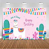 Mehofoto oh La Llama Backdrop Llama Birthday Llama Fun Photography Background 7x5ft Vinyl Pink Llama Baby Shower Llama Party Banner Backdrops