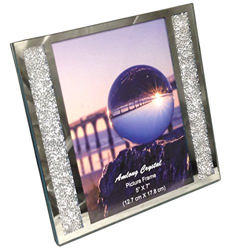 Amlong Crystal Diamond-Cut Crystal Filled Picture Frame, 5 x - Crystal Frame