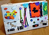 Busy board, Activity board, Travel toys, Wooden toys, Sensory board for baby, Montessori kid toy, Latch board, Learning toy, toddler toy