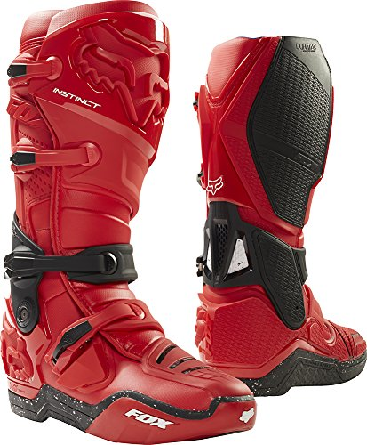 Red Motorcycle Boots - 4