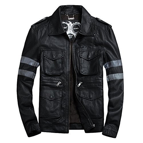 Buy dress leather jacket mens - 6