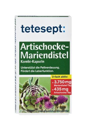 Tetesept Artischocken-Mariendistel Kombi-Kapseln,40er