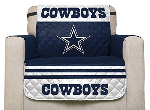 - Pegasus Home Fashions NFL Dallas Cowboys Chair Furniture Protector with Elastic Straps, 75 x 65, Team Color