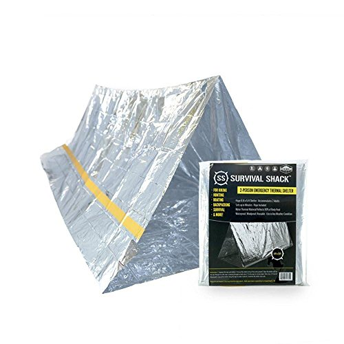 Survival Shack Emergency Survival Shelter Tent | 2 Person Mylar Thermal Shelter