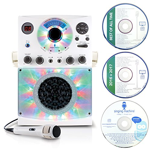 Singing Machine SML385 Karaoke Equipment with Bluetooth 1 Microphone and 36...