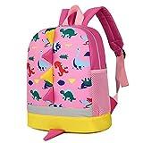 Kids Backpacks School Bags Dinosaur Toddler Boys Girls Daypacks 1-4 Years (pink)