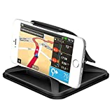 Cell Phone Holder for Car Dashboard- FITFORT Universal Silicone Car Phone Mounts Stand Mounting in Vehicle Pickup GPS Holder for iPhone X 8 Plus Galaxy Note 8 S9 S8 Plus and 3-7 Inches Smartphones
