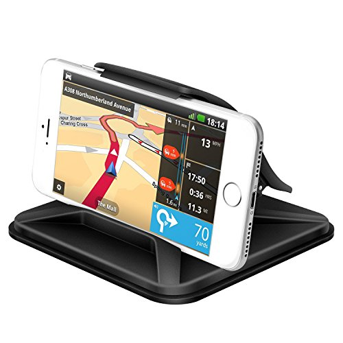 Cell Phone Holder for Car Dashboard- FITFORT Universal Silicone Car Phone Mounts Mounting in Vehicle Pickup GPS Holder for iPhone X 8 Plus Galaxy Note 8 S9 S8 Plus and 3-7 Inches Smartphones