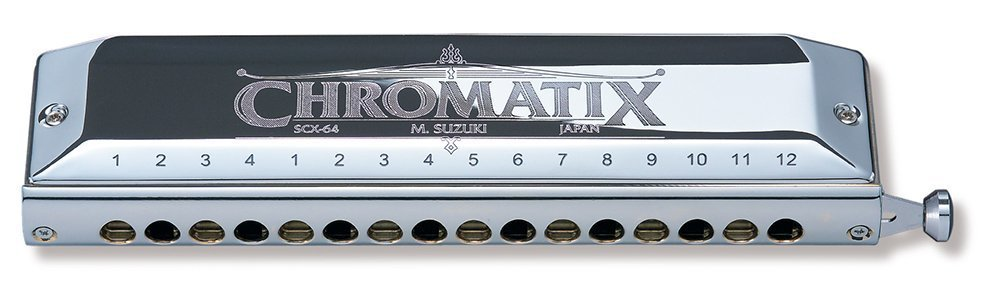 Suzuki SCX-64C Chromatix Series Harmonica Key of C, 64 Reeds, 16 Holes