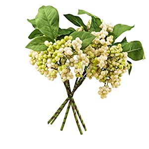 DECONEXT Red Artificial Berry Stems Fruit Fake Foam Berries Holly Christmas Festival Holiday Decoration Home Decor, Pack of 6 25