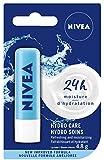 NIVEA Hydro Care Lip Balm (1 x 4.8mL Stick), Hydrating Caring Lip Moisturizer with Aloe Vera, Natural Avocado & Shea Butter, 24H Hydration