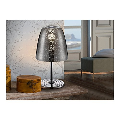 Schuller Spain 436462I4L Modern, Art Deco Chrome Dome Table Lamp 1 Light Living Room, bed room, Study, Bedroom LED, Dome Chrome Table Lamp | ideas4lighting by Schuller