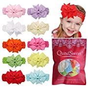 QandSweet Baby Girl Headbands Fishtail Bowknot (10 Pack)