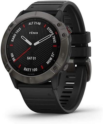 Garmin Fenix 6x Saphir Smartwatch Schiefergrau Schwarz 010 02157 11 Sapphire Carbon Gray Sport Freizeit
