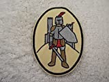 [Single Count] Custom and Unique (5'' Inch) Medieval Monogram Castle Knight Shield Design Iron On Embroidered Applique Patch {Tan, Brown, Red, Grey, & Black Colored}