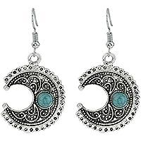 Wicemoon Moon turquesa pendientes joyas para mujer niña