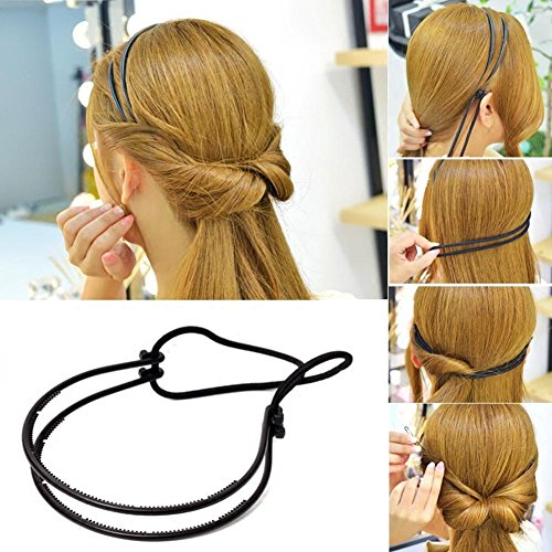 Elegant Haar Accessoires Haarband geflochten Haar mit Doppel-