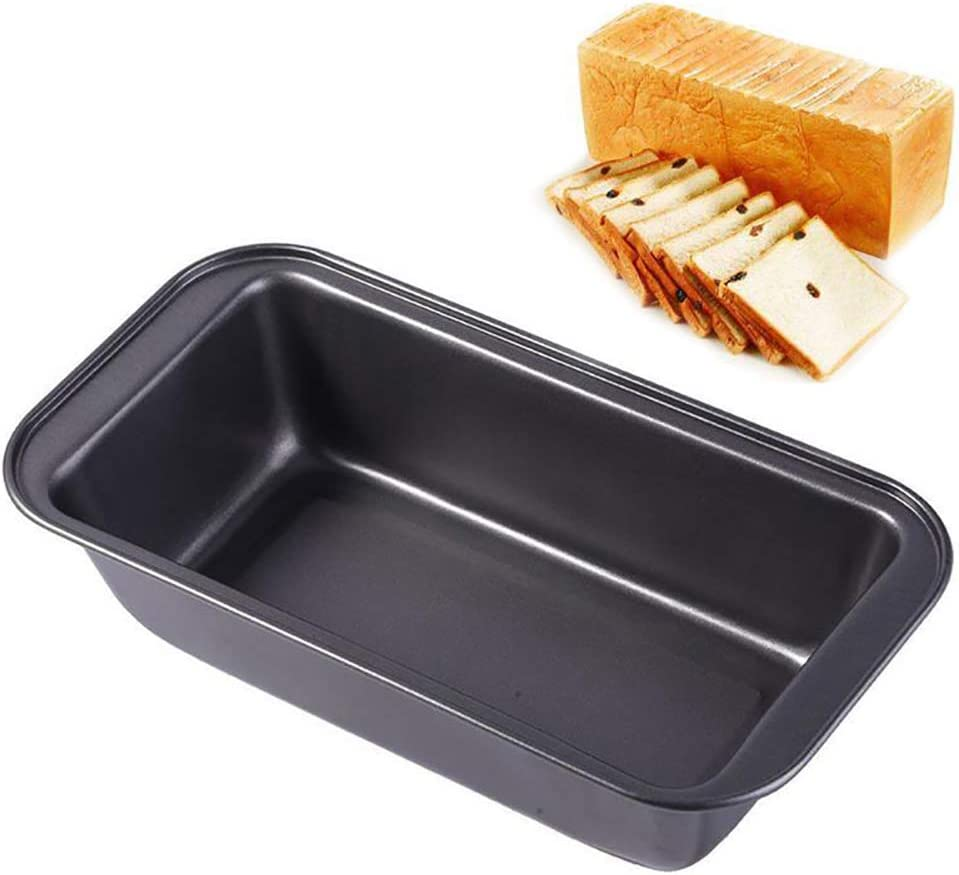 ONNPNN Non-Stick Carbon Steel Loaf Pan, Rectangular Bread Baking Pans, Toast Pastry Tray Mould, Sweet Cake Making Mold Bake Food Serving Tool for DIY Home Kitchen Cooking Bakeware 9.84x5.13inch